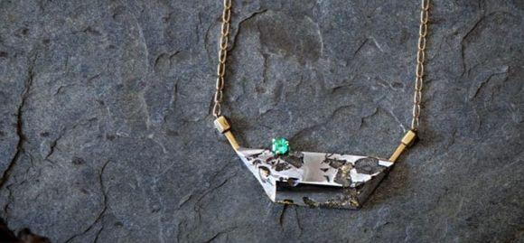 Украшения с метеоритом